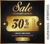 luxury gold sale banner template | Shutterstock .eps vector #693845101