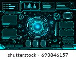 futuristic interface technology ... | Shutterstock .eps vector #693846157
