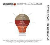 lightbulb statistic chart... | Shutterstock .eps vector #693848131