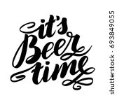 it's beer time. traditional... | Shutterstock .eps vector #693849055