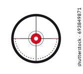 sniper scope crosshair aiming... | Shutterstock .eps vector #693849871