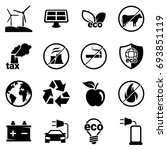 set of simple icons on a theme... | Shutterstock .eps vector #693851119