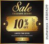luxury gold sale banner template | Shutterstock .eps vector #693854299