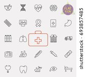 health care line icon set | Shutterstock .eps vector #693857485