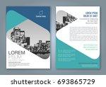 abstract minimal geometric... | Shutterstock .eps vector #693865729