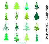 geometric art. green christmas... | Shutterstock . vector #693867085