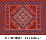 colorful oriental mosaic kilim... | Shutterstock .eps vector #693868114