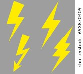 lightning bolt vector icon set. | Shutterstock .eps vector #693870409