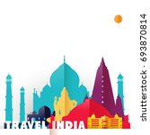 travel india concept... | Shutterstock .eps vector #693870814