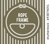 retro round rope frame with... | Shutterstock .eps vector #693874051