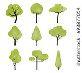 vector collection of trees | Shutterstock .eps vector #693877054