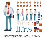 business man character... | Shutterstock .eps vector #693877609
