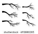 bare branch set vector symbol... | Shutterstock .eps vector #693880285