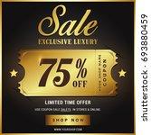 luxury gold sale banner template | Shutterstock .eps vector #693880459