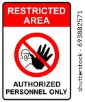 restricted area  authorized... | Shutterstock .eps vector #693882571