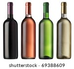 wine bottles | Shutterstock . vector #69388609