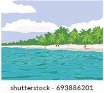 summer beach | Shutterstock .eps vector #693886201