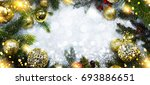 christmas holiday background  | Shutterstock . vector #693886651