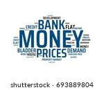 money   image with words... | Shutterstock . vector #693889804