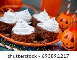 Halloween Ghost Brownies With...