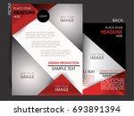 vector business flyer  magazine ... | Shutterstock .eps vector #693891394