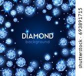 light blue color gem diamond... | Shutterstock .eps vector #693891715