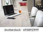 modern home interior dining...   Shutterstock . vector #693892999