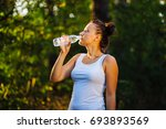 beautiful fitness athlete woman ... | Shutterstock . vector #693893569