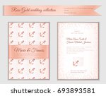 luxury wedding invitation... | Shutterstock .eps vector #693893581