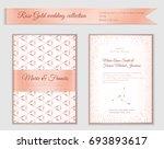 luxury wedding invitation... | Shutterstock .eps vector #693893617