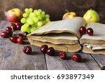 Retro Book And Cherry Berry