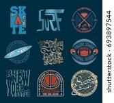 sport typography graphics logo... | Shutterstock .eps vector #693897544