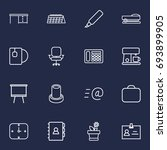 set of 16 office outline icons... | Shutterstock .eps vector #693899905