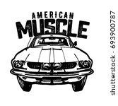 american muscle car. logo....   Shutterstock .eps vector #693900787