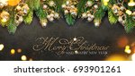 christmas and new year s... | Shutterstock . vector #693901261