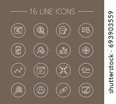set of 16 optimization outline... | Shutterstock .eps vector #693903559