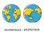 planet earth  world map ... | Shutterstock .eps vector #693907405