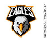 furious eagle head athletic... | Shutterstock .eps vector #693912817