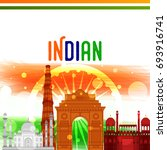 happy independence day india... | Shutterstock .eps vector #693916741