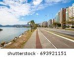 beira mar avenue at... | Shutterstock . vector #693921151