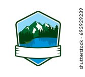 mountain lake logo | Shutterstock .eps vector #693929239