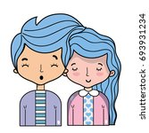 beauty couple together with...   Shutterstock .eps vector #693931234