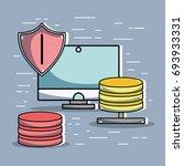 computer data center system... | Shutterstock .eps vector #693933331