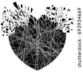 black explosion heart  splash | Shutterstock .eps vector #693934669
