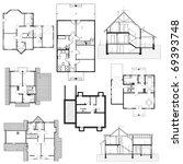 architectural background. set... | Shutterstock .eps vector #69393748