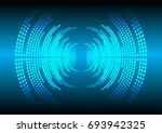 sound waves oscillating dark... | Shutterstock .eps vector #693942325
