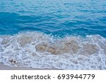 paradise beach with emerald... | Shutterstock . vector #693944779