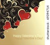 valentine s day card | Shutterstock .eps vector #69394714