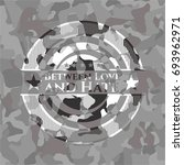 between love and hate on grey... | Shutterstock .eps vector #693962971