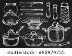 kitchenware set. beautiful... | Shutterstock .eps vector #693974755